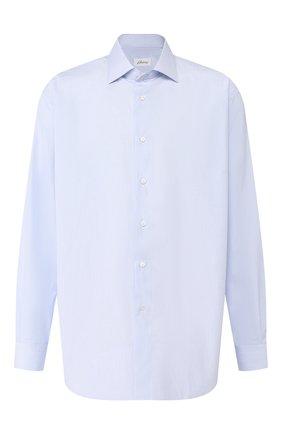 Мужская хлопковая сорочка BRIONI голубого цвета, арт. RCL41G/PZ007 | Фото 1