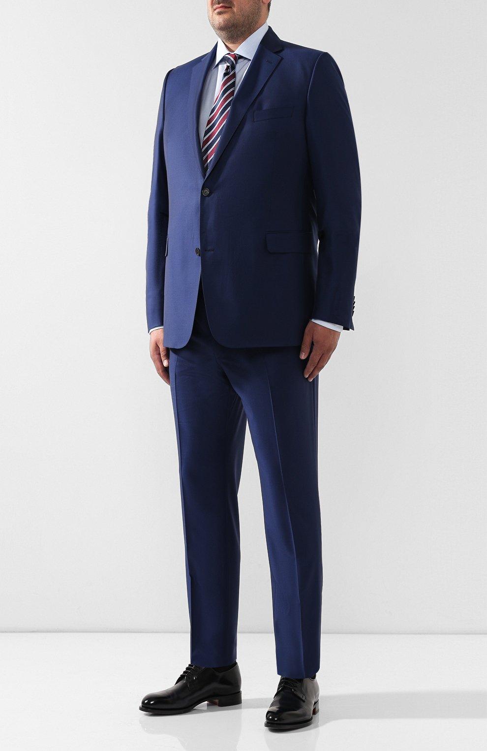 Мужская хлопковая сорочка BRIONI голубого цвета, арт. RCL41G/PZ007 | Фото 2