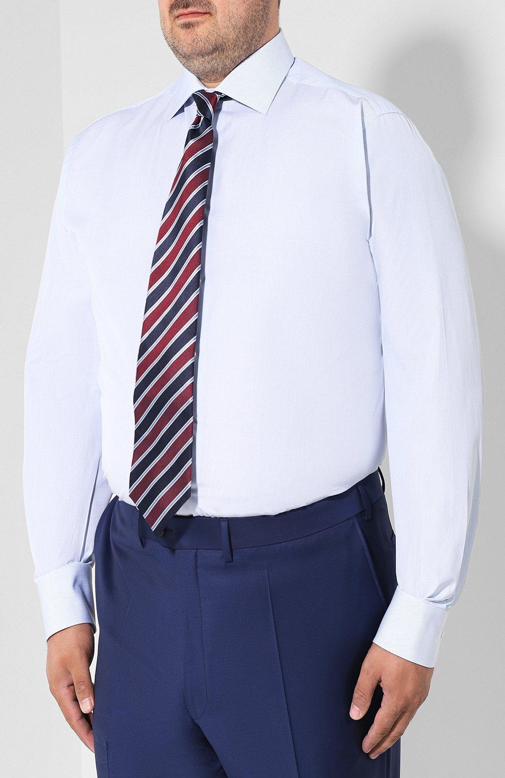 Мужская хлопковая сорочка BRIONI голубого цвета, арт. RCL41G/PZ007 | Фото 4