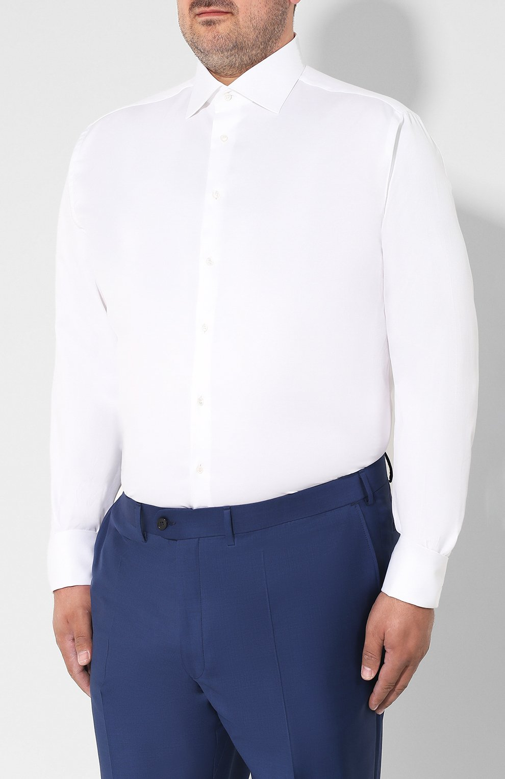 Мужская хлопковая сорочка BRIONI белого цвета, арт. RCL416/P703W | Фото 3