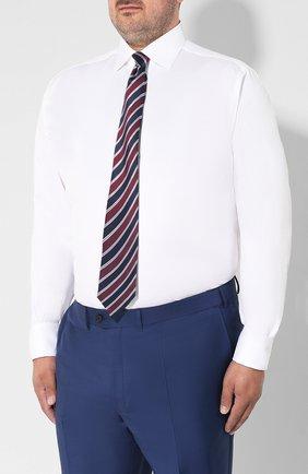 Мужская хлопковая сорочка BRIONI белого цвета, арт. RCL416/P703W | Фото 4