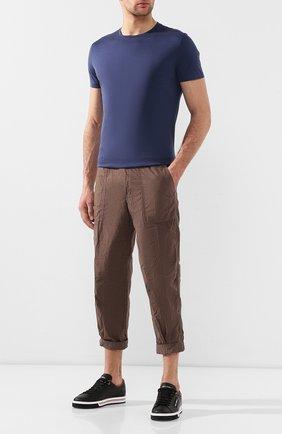 Мужской хлопковые брюки JAMES PERSE хаки цвета, арт. WPR1835 | Фото 2