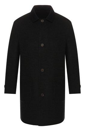 Мужской двустороннее кашемировое пальто BRUNELLO CUCINELLI темно-серого цвета, арт. ML4549947 | Фото 1 (Материал внешний: Шерсть, Кашемир; Рукава: Длинные; Мужское Кросс-КТ: Верхняя одежда, пальто-верхняя одежда; Стили: Кэжуэл; Длина (верхняя одежда): До середины бедра; Статус проверки: Проверена категория)