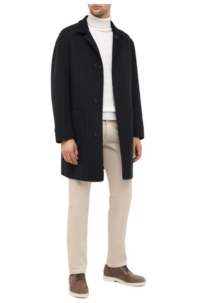 Мужской двустороннее кашемировое пальто BRUNELLO CUCINELLI темно-серого цвета, арт. ML4549947   Фото 3 (Материал внешний: Шерсть, Кашемир; Рукава: Длинные; Длина (верхняя одежда): До середины бедра; Мужское Кросс-КТ: Верхняя одежда, пальто-верхняя одежда; Стили: Кэжуэл; Статус проверки: Проверена категория)