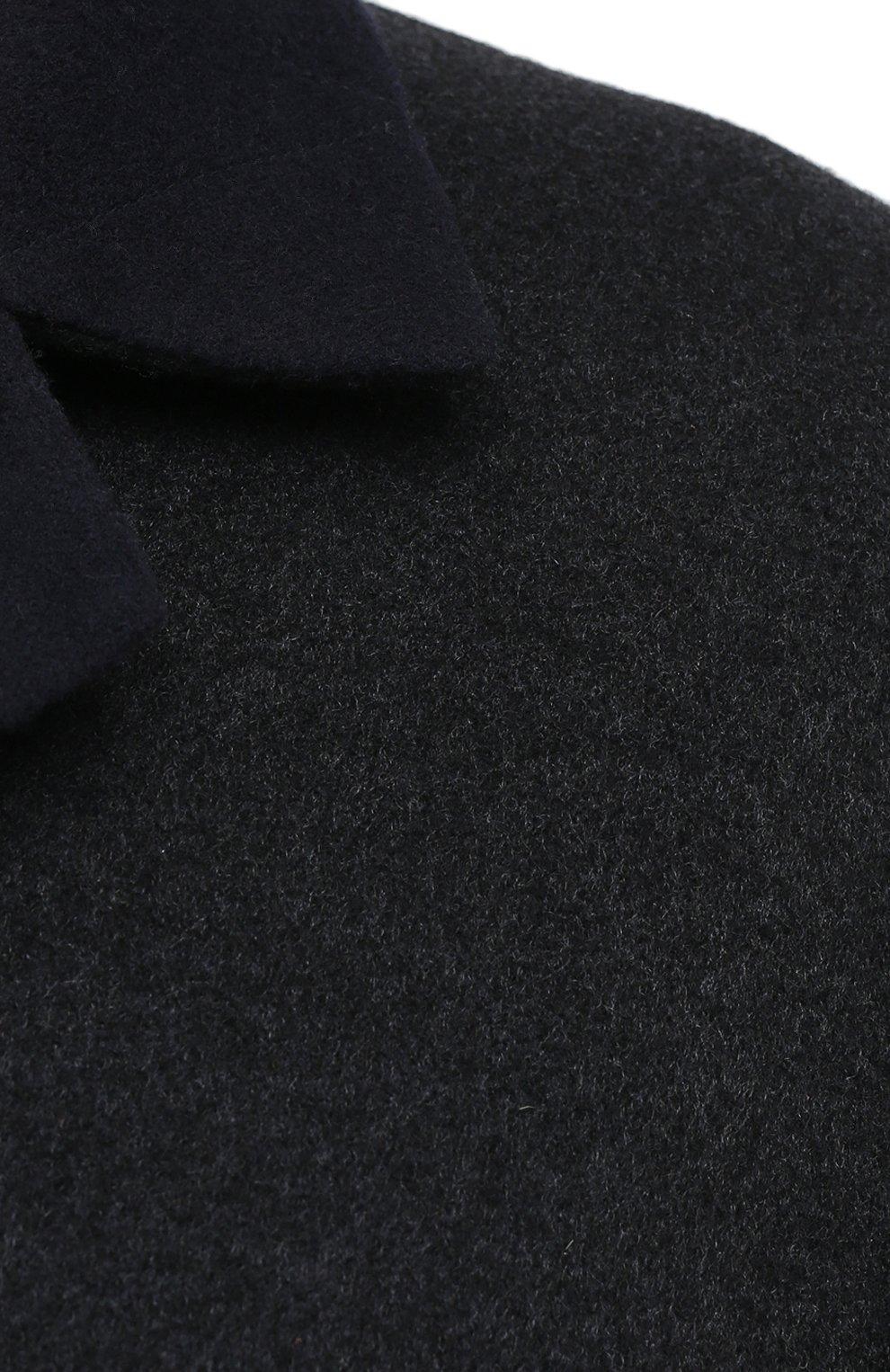 Мужской двустороннее кашемировое пальто BRUNELLO CUCINELLI темно-серого цвета, арт. ML4549947   Фото 6 (Материал внешний: Шерсть, Кашемир; Рукава: Длинные; Длина (верхняя одежда): До середины бедра; Мужское Кросс-КТ: Верхняя одежда, пальто-верхняя одежда; Стили: Кэжуэл; Статус проверки: Проверена категория)