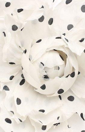 Мужская брошь FLOWER ME белого цвета, арт. PION-NS004005L   Фото 3
