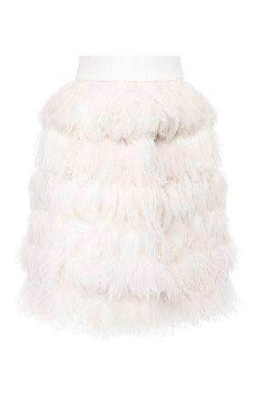 Шелковая юбка с перьями | Фото №1