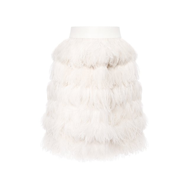 Шелковая юбка с перьями Dolce & Gabbana