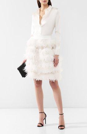 Шелковая юбка с перьями | Фото №2