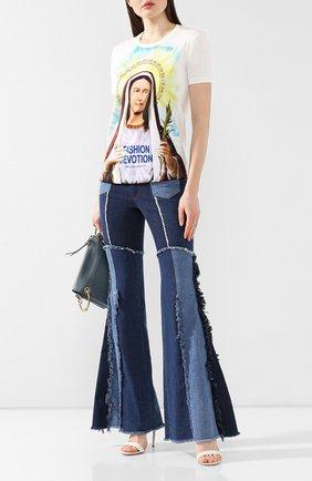 Женские джинсы DOLCE & GABBANA темно-синего цвета, арт. FTBBUD/G895D | Фото 2