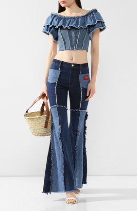 Джинсовый топ Dolce & Gabbana голубой | Фото №2