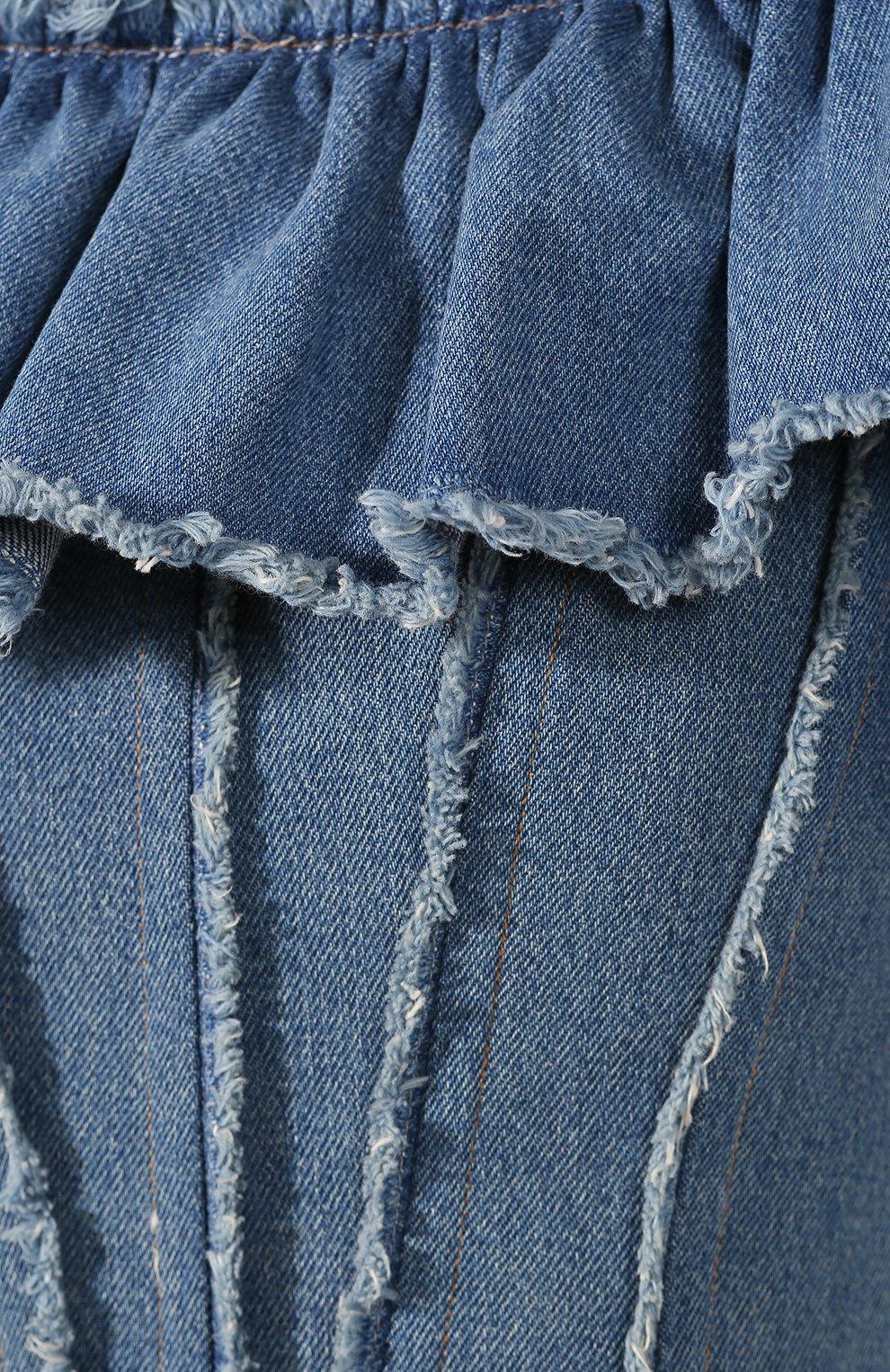 Джинсовый топ Dolce & Gabbana голубой | Фото №5