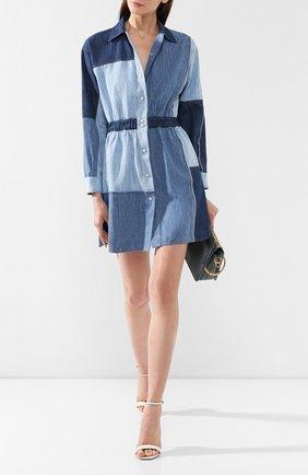Женское джинсовое платье DOLCE & GABBANA голубого цвета, арт. F6D4CD/G896Q   Фото 2