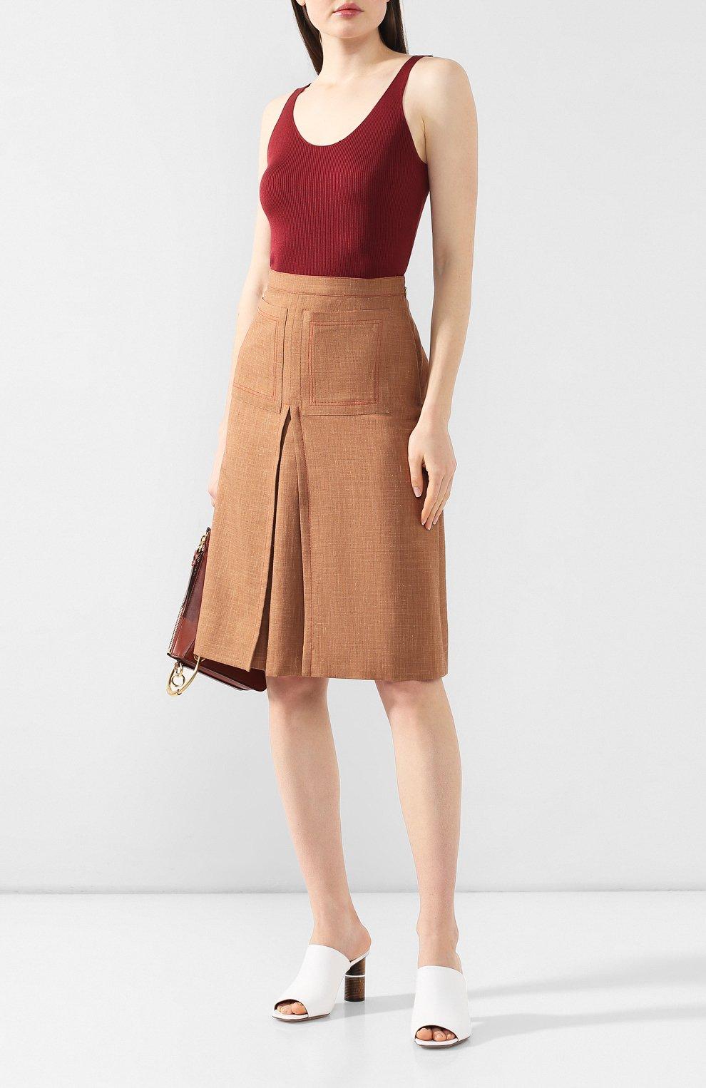 Юбка Burberry светло-коричневая | Фото №2