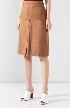 Юбка Burberry светло-коричневая | Фото №3