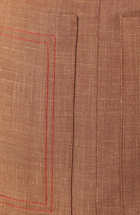 Юбка Burberry светло-коричневая | Фото №5