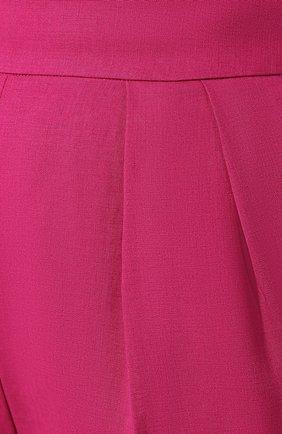 Льняные брюки Theory фуксия | Фото №5