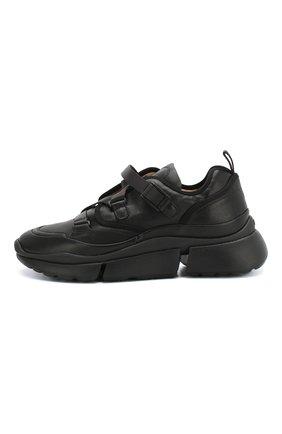 Комбинированные кроссовки Sonnie Chloé черные   Фото №3