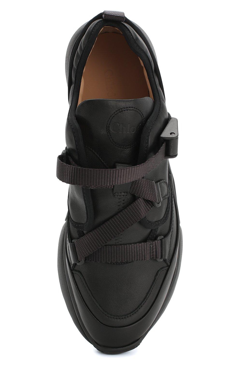 Комбинированные кроссовки Sonnie Chloé черные   Фото №5
