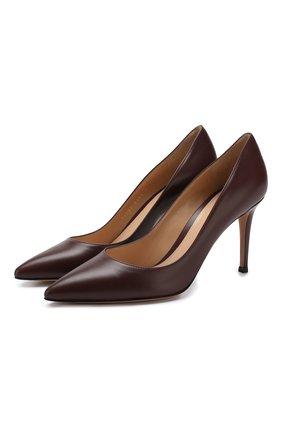 Женская кожаные туфли gianvito 85 GIANVITO ROSSI бордового цвета, арт. G24580.85RIC.VITR0YA | Фото 1