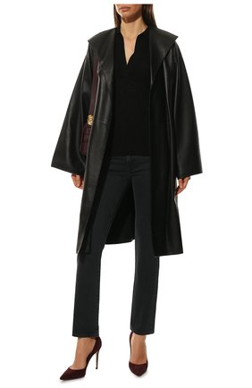 Женская замшевые туфли gianvito 105  GIANVITO ROSSI бордового цвета, арт. G28470.15RIC.CAMR0YA | Фото 2