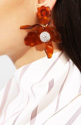 Женские серьги-клипсы LELE SADOUGHI коричневого цвета, арт. LS0349CM-C | Фото 2