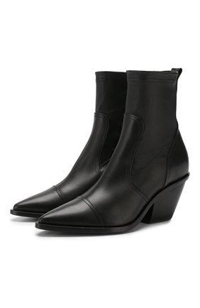 Женские кожаные ботильоны AGL черного цвета, арт. D239530BEK60671013 | Фото 1