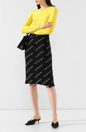Женские текстильные мюли knife BALENCIAGA черного цвета, арт. 548172/W1B80 | Фото 2