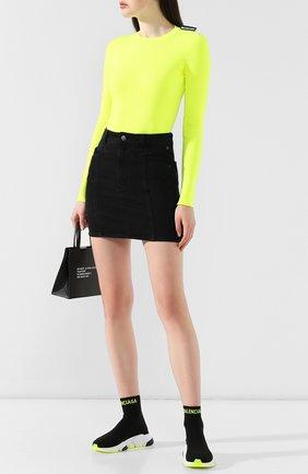 Женские текстильные кроссовки speed BALENCIAGA черного цвета, арт. 581032/W1P20 | Фото 2