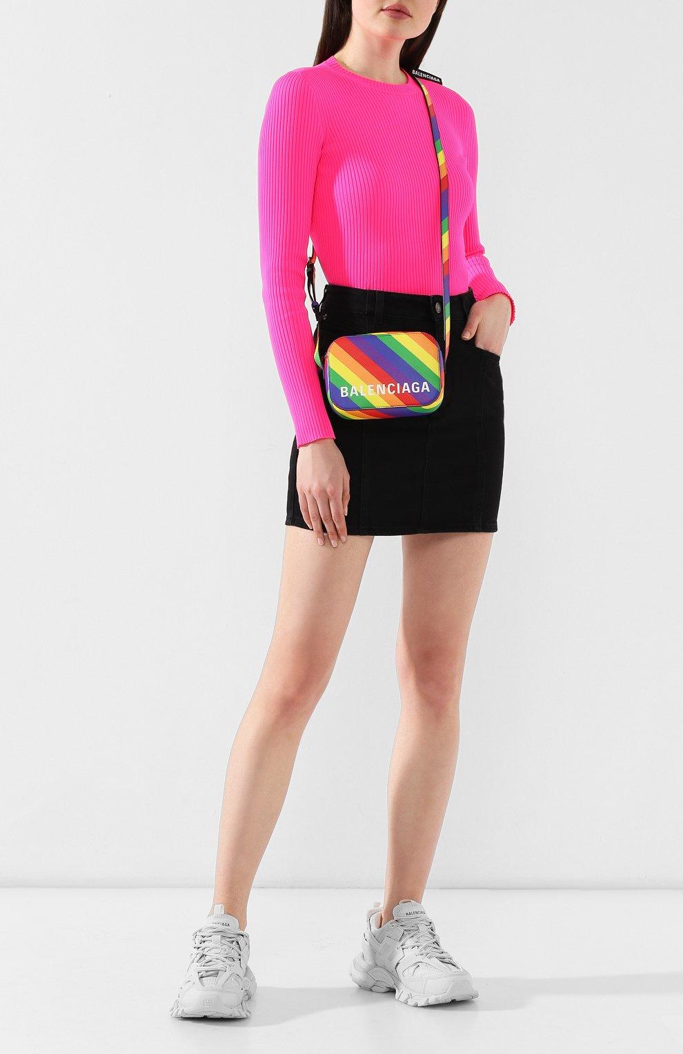 Сумка Ville Camera XS Balenciaga разноцветная цвета | Фото №2