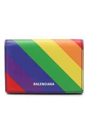 Кожаный кошелек Ville Balenciaga разноцветного цвета | Фото №1
