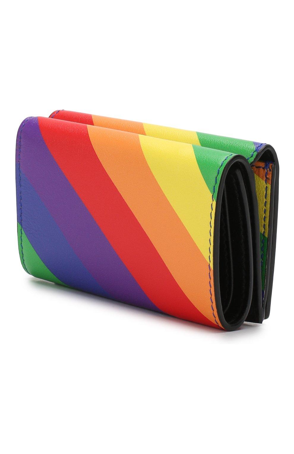 Кожаный кошелек Ville Balenciaga разноцветного цвета | Фото №2