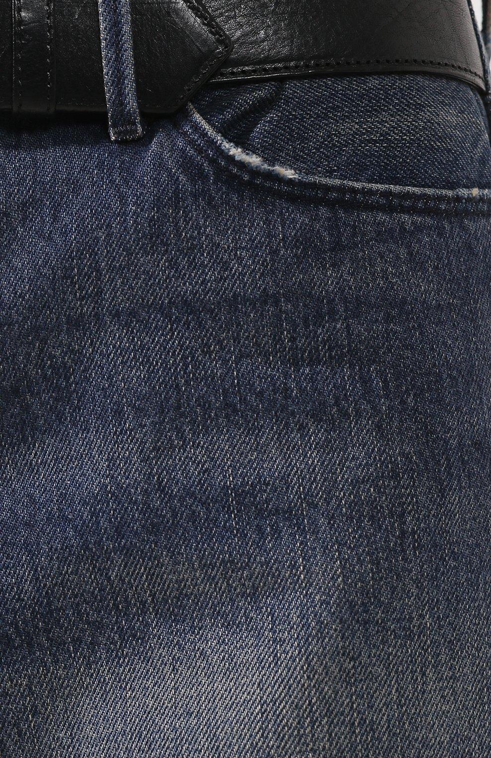 Женские джинсовые шорты RTA голубого цвета, арт. WS9205-322CARP   Фото 5 (Женское Кросс-КТ: Шорты-одежда; Кросс-КТ: Деним; Длина Ж (юбки, платья, шорты): Мини; Материал внешний: Хлопок, Деним; Статус проверки: Проверено; Стили: Кэжуэл)