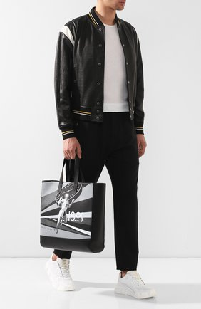 Кожаная сумка-шоппер | Фото №2