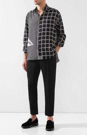 Мужские текстильные слипоны GIORGIO ARMANI черного цвета, арт. X2J122/XL579 | Фото 2