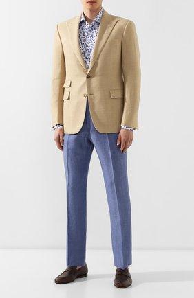 Мужской пиджак из смеси шерсти и шелка RALPH LAUREN бежевого цвета, арт. 798744085 | Фото 2