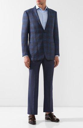 Мужской шерстяные брюки BRIONI синего цвета, арт. RPL20Q/P8A0X/M0ENA | Фото 2