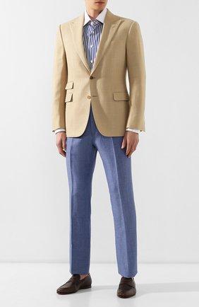 Мужская хлопковая рубашка BILLIONAIRE темно-синего цвета, арт. I19C MRP0914 BTE002N | Фото 2