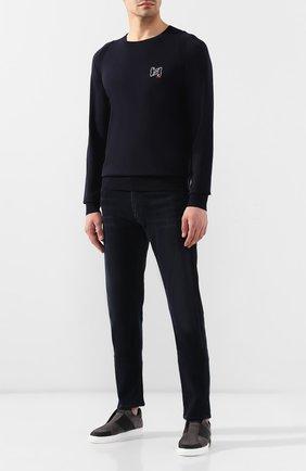 Мужские кожаные кеды bolt 2 HARRYS OF LONDON серого цвета, арт. B0LT 2 N0BLE SUEDE/TECH LEATHER | Фото 2