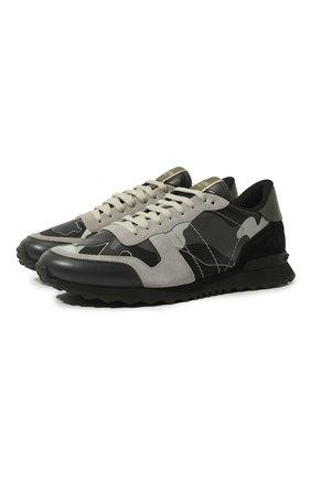 Кожаные кроссовки Valentino Garavani | Фото №1