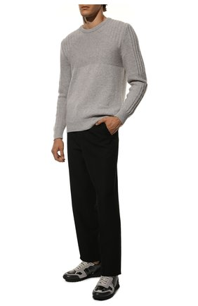 Мужские кожаные кроссовки rockrunner VALENTINO темно-серого цвета, арт. SY2S0723/XVU | Фото 2
