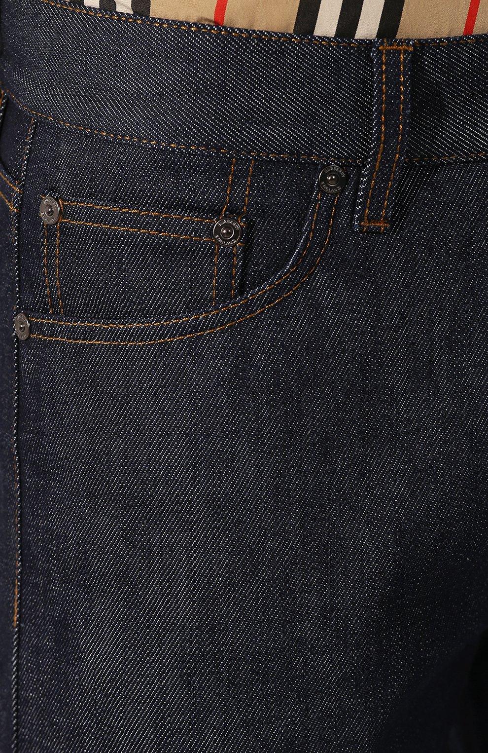 Джинсы Burberry темно-синие | Фото №5