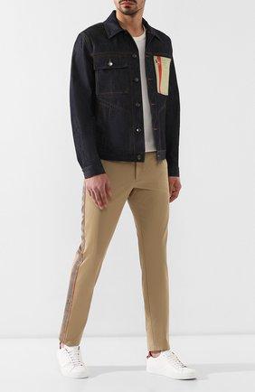 Мужской хлопковые брюки BURBERRY бежевого цвета, арт. 8009467 | Фото 2
