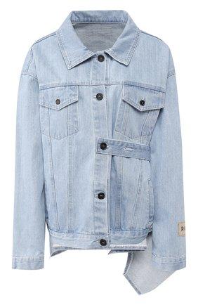 Джинсовая куртка с поясом | Фото №1