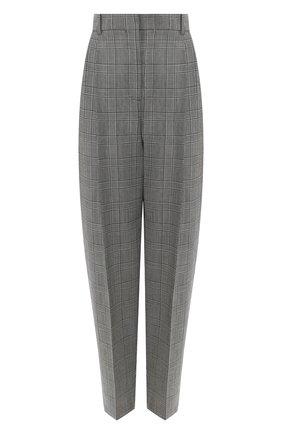 Шерстяные брюки Givenchy серые | Фото №1