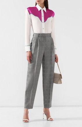 Шерстяные брюки Givenchy серые | Фото №2