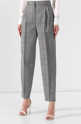 Шерстяные брюки Givenchy серые | Фото №3