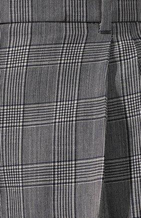 Шерстяные брюки Givenchy серые | Фото №5