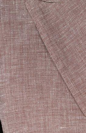 Женский двубортный жакет KITON светло-коричневого цвета, арт. D46523K06P19 | Фото 5