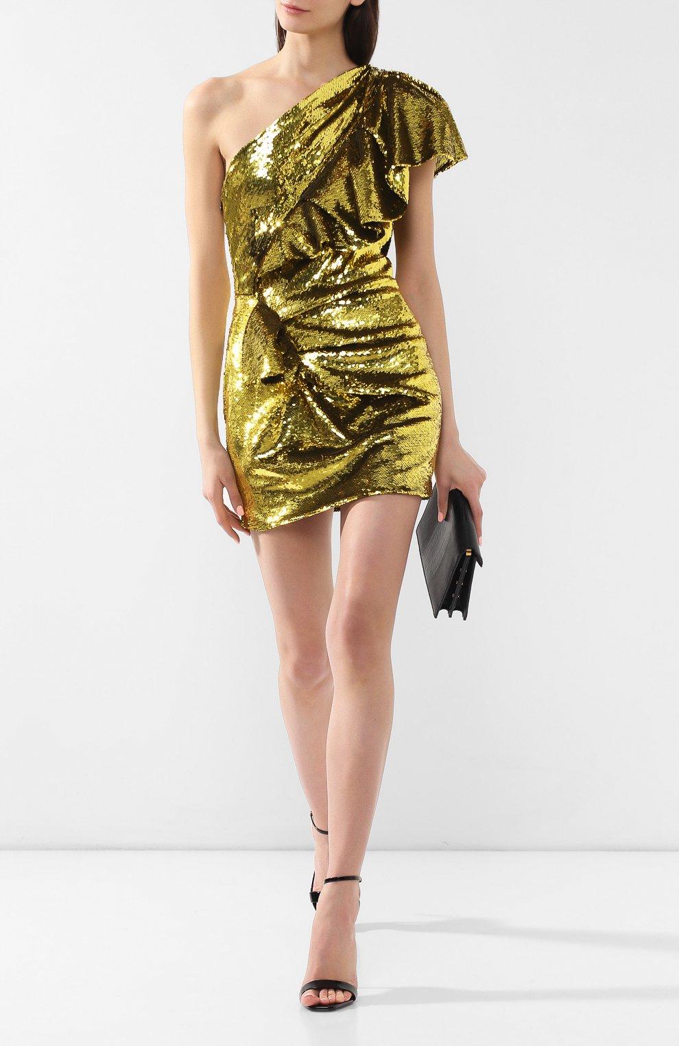 Мини-платье Alexandre Vauthier желтое | Фото №2
